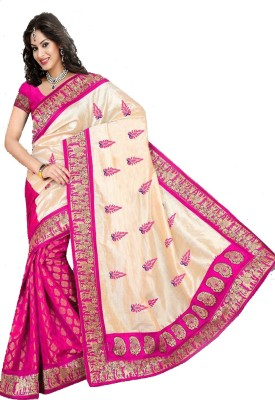 MatindraEnterprise Embriodered Bhagalpuri Silk Sari