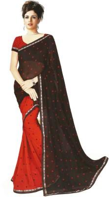 Swaman Polka Print Fashion Chiffon Sari