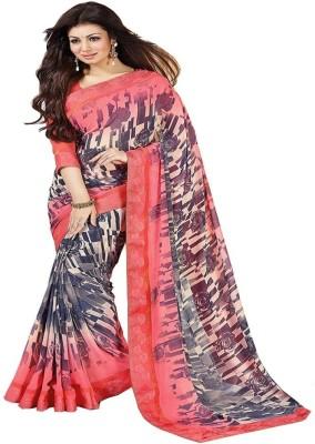 Hari Krishna sarees Geometric Print Bollywood Georgette Sari
