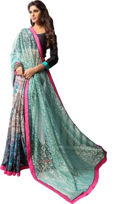 Patiala House Embriodered, Printed Fashion Georgette Sari