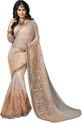 Mahotsav Embroidered Fashion Georgette Saree(Pink) at flipkart