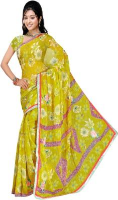 Arch Floral Print Fashion Georgette Sari