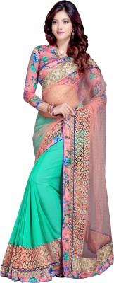 DEEPANJALI PRINTS Self Design Bollywood Chiffon Sari