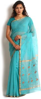 Kasturi-B Swadeshi Karigari Striped Chanderi Handloom Chanderi Sari