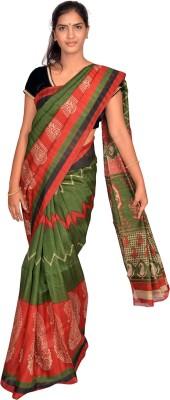 Jagadamba Printed Bhagalpuri Silk Sari
