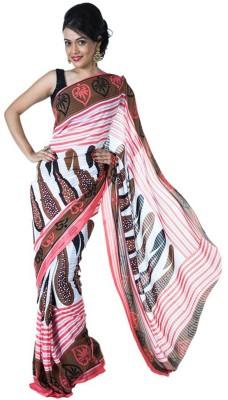 SSMITN Printed Fashion Chiffon Sari