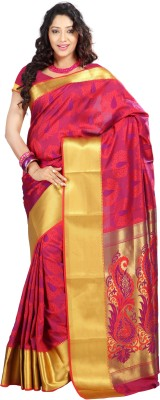 Janasya Self Design Fashion Art Silk Sari