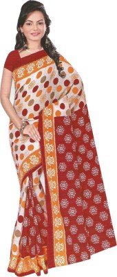 komal special Solid Daily Wear Cotton Sari