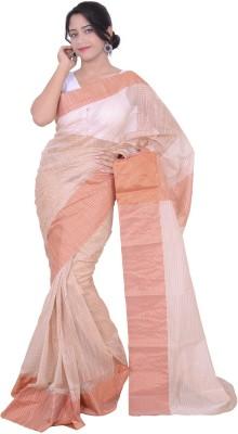 Banarasi Silk Works Striped Banarasi Handloom Cotton Sari