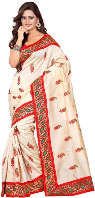 Amisha Creation Embriodered Assam Silk Silk Sari