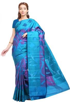 Aruna Sarees Graphic Print, Floral Print Dharmavaram Handloom Pure Silk Sari