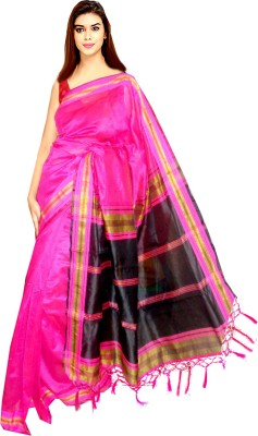 Tyra Sarees Woven Ikkat Handloom Silk Cotton Blend Sari