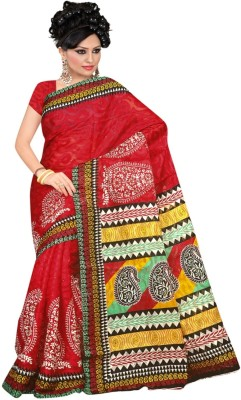 Anjani Creation Printed Fashion Cotton, Jacquard Sari