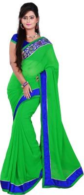 Aanchal Fashion Graphic Print Fashion Georgette Sari