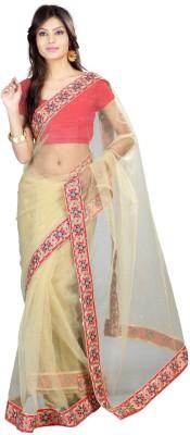 Shukan Saree Self Design Fashion Net Sari