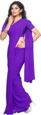 Surupta Plain Daily Wear Chiffon Sari