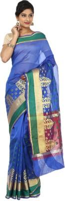 Seven Square Woven Banarasi Net Sari