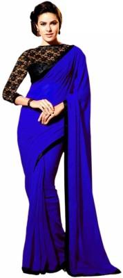 Aabha N Alia Embriodered Bollywood Georgette Sari