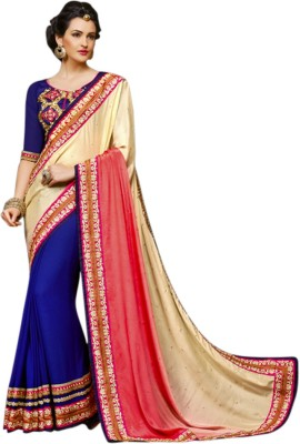 Zabme Self Design Fashion Georgette Sari