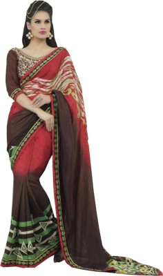 Jealous Boutique Embellished Fashion Handloom Georgette Sari