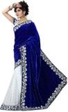 Kaladin Self Design Bollywood Velvet Sar...