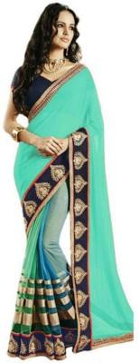 Lolla Fashion Embriodered Bollywood Georgette, Net Sari