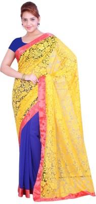 Krishna Ki Leela Solid Fashion Brasso Sari