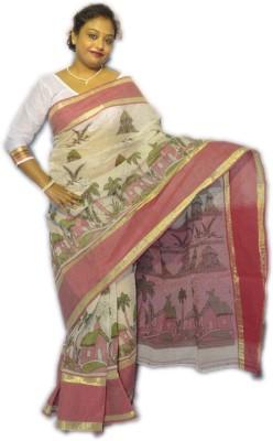 Fashion Gallery Floral Print Tangail Handloom Cotton Sari