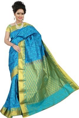 BrindavanSilks Self Design Fashion Art Silk Sari