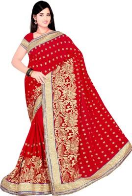 Om Sai Fashion Embellished Bollywood Georgette Sari
