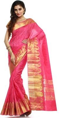 Sudarshan Silks Self Design Dharmavaram Handloom Raw Silk Sari