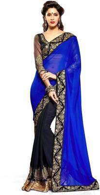 TriveniCreation Self Design Fashion Georgette Sari