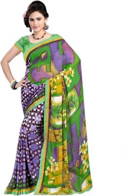 Fashionatics Floral Print Daily Wear Chiffon Sari