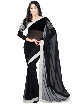 Kashish Lifestyle Embriodered Fashion Handloom Georgette Sari
