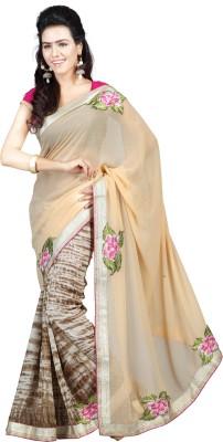Trimurti Fashion Embriodered Fashion Handloom Chiffon Sari