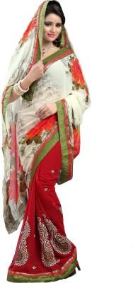 Chandra Silk Mills Printed, Embriodered, Embellished, Self Design Fashion Chiffon, Art Silk Sari