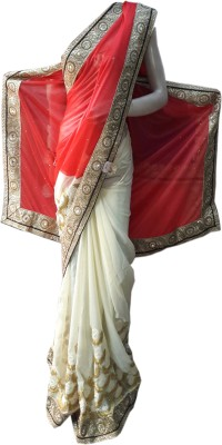 Desiner Embriodered Bollywood Synthetic Sari