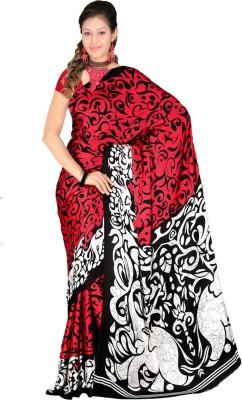 Fashion Tadka Animal Print Fashion Satin Sari