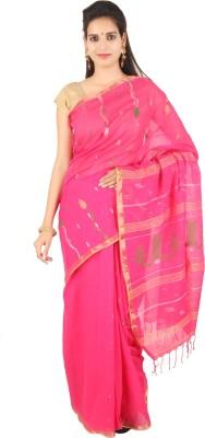The Weave Traveller Self Design Jamdani Cotton Sari
