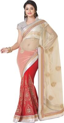 Shop Plaza Embriodered, Plain Daily Wear Viscose, Net Sari