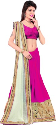 KSM Self Design Bollywood Georgette Sari