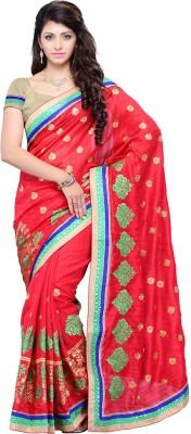 Ruda Self Design Fashion Handloom Art Silk Sari