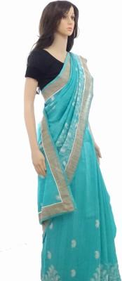 INDIANA FAB Embellished Fashion Silk Cotton Blend Sari