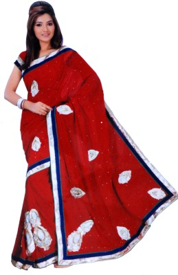 Sonakshi Creation Self Design Bollywood Georgette Sari