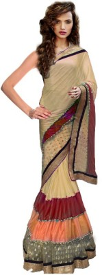 Clother Self Design Daily Wear Lycra, Georgette Sari