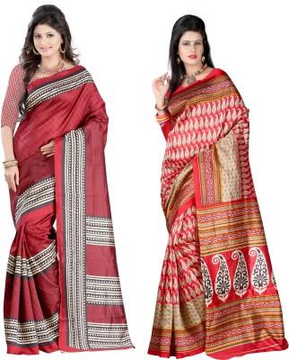 CD Enterprise Solid Bollywood Art Silk Sari