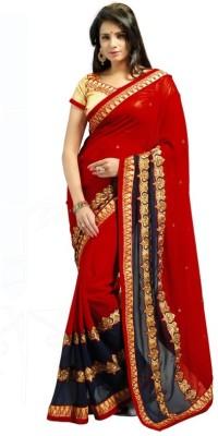SK Embriodered Fashion Handloom Chiffon Sari