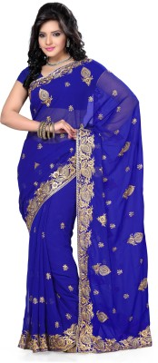 De Marca Solid Fashion Georgette Sari
