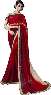 Kryptos Online Printed Fashion Georgette Sari