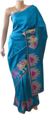 BEAUVILLE VAIIBAVAM Applique Fashion Pure Silk Sari